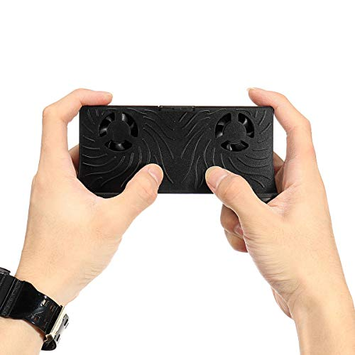 feichang Handy-Zubehör, Gaming-Controller, Touchscreen, Mini-Wireless-Lade-Gamepad, aufladbarer Joystick mit Lüfter (Farbe: schwarz)