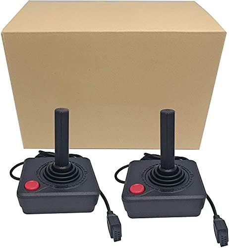 RUITROLIKER Controller Gamepad Black Joystick für Atari 2600 System Konsole Pack 2pcs