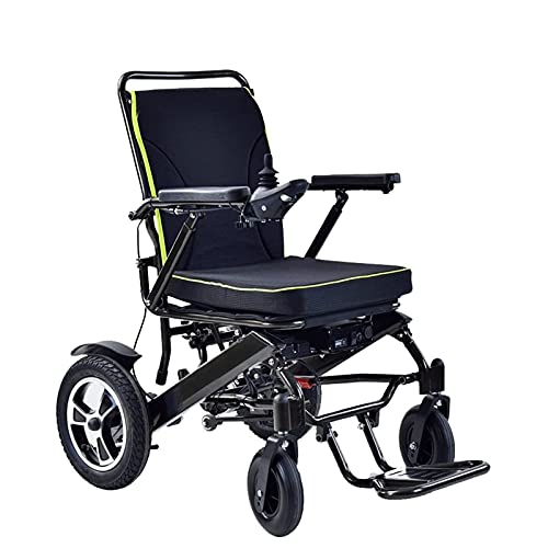FGVDJ Scooters para Personas Mayores con discapacidades Silla de Ruedas eléctrica Plegable, Marco de aleación de Aluminio Motor Potente y de Alta Potencia Rueda Trasera in