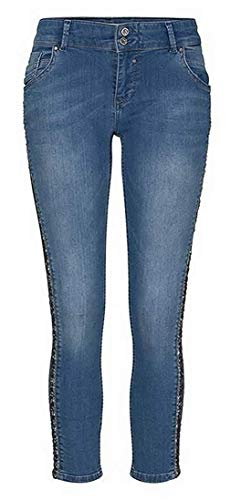 coccora Dames Jeans 7/8 in Blauw W28