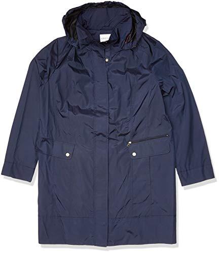 Cole Haan Women's Packable rain Jacket, indigo, 2X