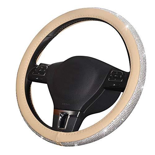 XXY Accessoires de Bling int/érieur de Voiture pour Accessoires Audi Signe de Volant Logo 3D Strass d/écalcomanies Couverture