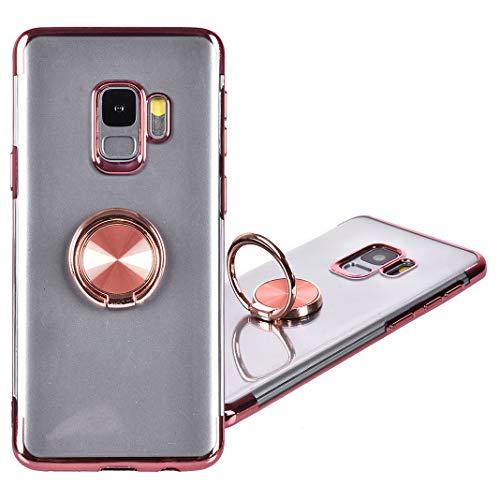 Galaxy S9 Handyhülle Ring, Galaxy S9 Hülle mit Ring Ständer,360 Grad Drehbarer Ring Grip Case Kompatibel mit Ssmsung Galaxy S9 Hülle mit Kickstand Silikon Stoßfest Schutz,Kompatibel Magnetic Car Mount