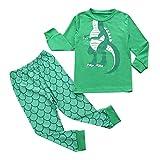 POLP Ropa niña Camiseta con Estampado de Dinosaurio de Manga Larga para niños + pantalón de Dos Piezas, Ropa de hogar, Verde Ropa niño otoño Invierno 2PCS