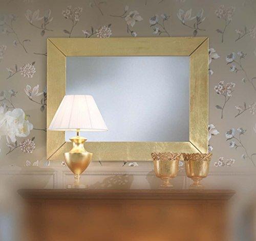 Legno&Design Miroir Moderne rectangulaire Feuille d'or.