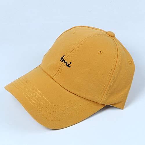 Hut weibliche Wilde Student Street Letter Baseball Cap männliche Persönlichkeit Kappe gelb einstellbar