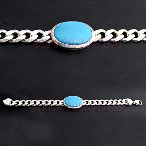 Om Pooja Shop Salman Khan Orignal Turquoise (Firoza) Silver Bracelet