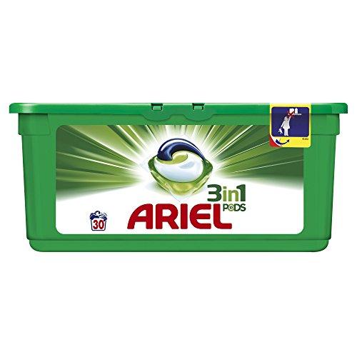 Ariel 3 en 1 vainas lavado regular de tabletas, 30 lavados