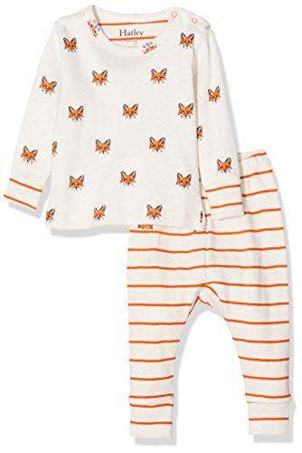 Hatley Organic Cotton Pyjama Sets Ensemble, Blanc (Clever Fox 100), 18-24 Mois (Taille Fabricant: 18M-24M) Bébé garçon