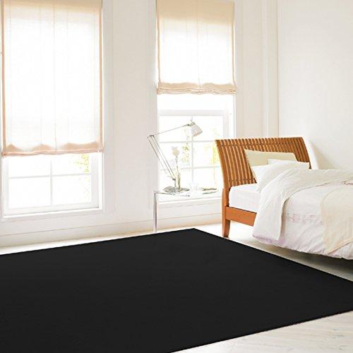 黒色(ブラック)カーペット bk900(Y)(ホットカーペット対応) 6畳 六畳 6帖 約261×352cm 黒 black クロ くろ 漆黒