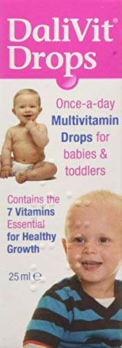 DaliVit Drops   Multivitamin Drops Contain 7 Essential Vitamins for Healthy Growth and Development   Specially Formulated for Infants and Children   Peanut/Nut and SOYA Free   25ml