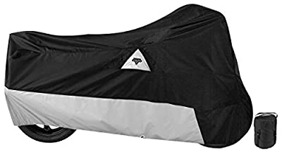 Nelson-Rigg DE-400-02-MD Defender 400/500 Motorcycle Cover, All-Weather, Waterproof, UV, Air Vents, Heat Shield, Windshield Liner, Compression Bag, Grommets, Medium Fits most sport bikes, Black from Nelson Rigg