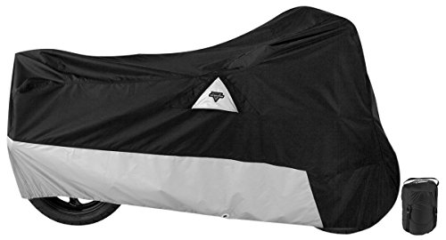 Nelson-Rigg Defender 400/500 Motorcycle Cover, All-Weather, Waterproof, UV, Air Vents, Heat Shield, Windshield Liner, Compression Bag, Antenna Grommets, XX-Large Fits most Touring motorcycles Harley Davidson Ultra or Honda Goldwing