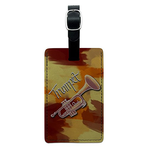 Trumpet - Musical Instrument Music Brass Leather Luggage ID Tag Suitcase