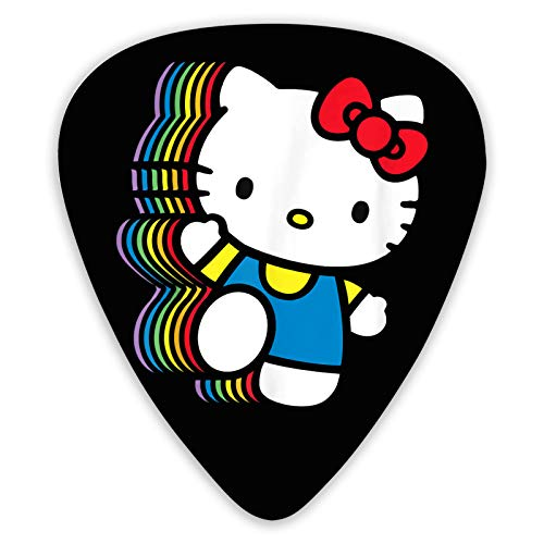Namikshop Hello Kitty Guitar Picks 12 Pack Guitar Plectrum .Presented in Luxury Metal Case Music Gift for Acoustic Electric Bass Guitar Ukulele