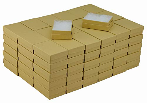 JPB Kraft Cotton Filled Jewelry Box #32 (Case of 100) 3.125 inches x 2.125 inches