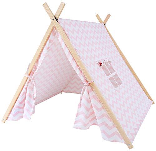 Kindsgut Speeltent voor kinderen Zigzag, roze