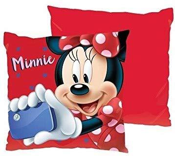 ML pank de 2 Cojines Disney Minnie Mouse Cojin 40x40cm niña, Color Rojo
