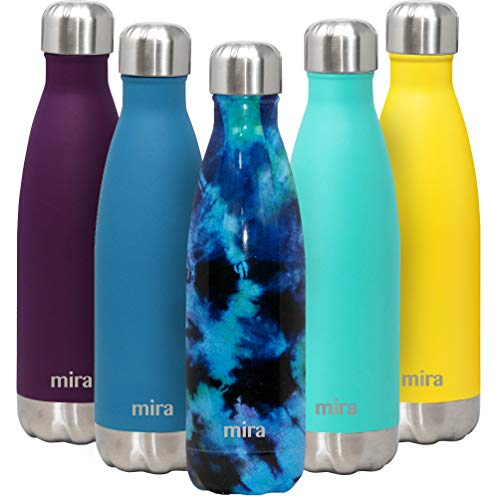 MIRA 17 Oz Stainless Steel Vacuum Insulated Water Bottle - Double Walled Cola...