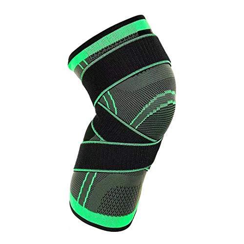 Kniebandage, Kompressionsmanschette, verstellbare elastische Kniebandagen, Knieschoner für Männer und Frauen, Fitnessstudio, Tennis, Radfahren, Basketball, Laufen, XL