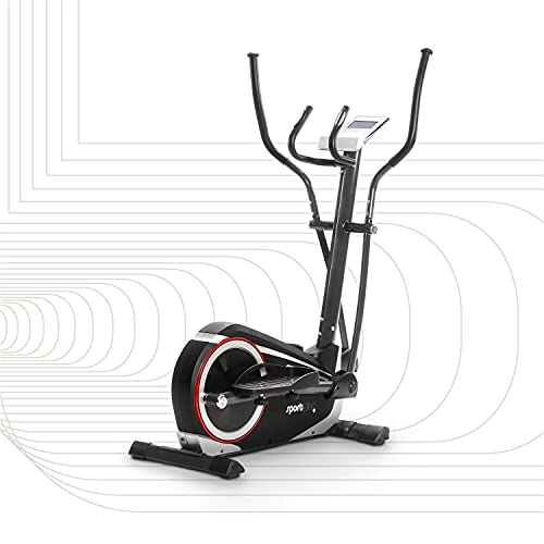 SportPlus Ellittica Crosstrainer - 24 livelli & 24 programmi di allenamento, con controllo tramite app (ad es. Kinomap), ca 17 kg di massa volanica, sicurezza testata fino a 150 kg, SP-ET-9600-iE
