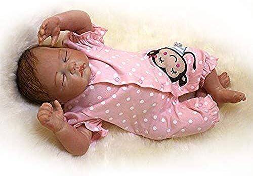 de moda ZIYIUI Nuevo Version55cm Toque Real muñeca muñeca muñeca renacida Silicona Suave Vinilo algodón Cuerpo Hecho a Mano bebé Regalo  suministro directo de los fabricantes