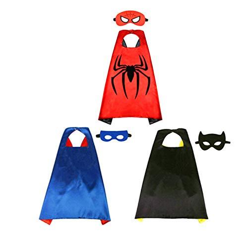 BJ-SHOP Kinder Umhang Maske,Kostum Kinder die Mantel Jungen und Madchen Superheld Spielwaren fur Geburtstag und Kinderkostum Partei Zurechtmachen