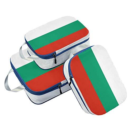 Bulgarien-Flagge Packwürfel, 3 Set Reisegepäck Verpackung Organizer