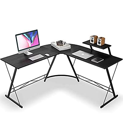 L Desk Corner Desk with Shelf