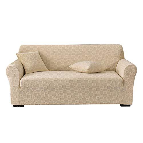 HALOUK Spandex Sofabezug,Stretch Sofaüberwurf Elastische Antirutsch Jacquard 1 Stück Möbelschutz Sofa Abdeckung für Kinder Pet-O-M (145-185cm)