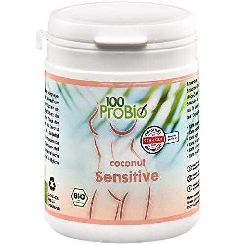 100ProBio Coconut Sensitive 250ml Intimpflegeöl Dermatest Sehr Gut | Bio Natürliche Intimpflege | Pflegeprodukt ohne künstliche Zusatzstoffe | Intim Creme bei Scheidentrockenheit & Juckreiz