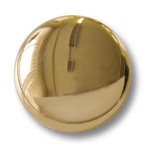 Knopfparadies (1550gg) 10er Set hochwertig verarbeitete, Zeitlose Uniformknöpfe/Metallknöpfe in glänzend Gold. Durchmesser: ca. 15mm!