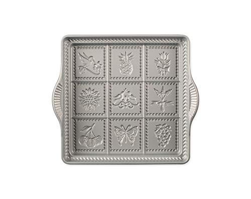 Nordic Ware English Shortbread Pan, 9x9 Inches, Non-stick
