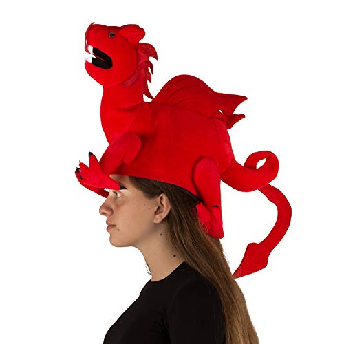 Funny Party Hats Dragon Hat - Dragon Costume - Novelty Hats - Red Dragon Hat