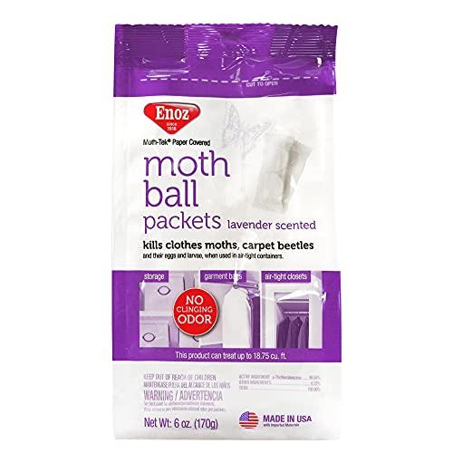 Enoz Moth-Tek Packets Lavender Scent - 6 oz. Bag 1 ea. Kills Clothes Moths, Carpet Beetles, and Eggs and Larvae