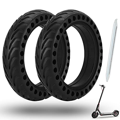 Cooryda Solid Tire for Xiaomi m365 Electric Scooter Mijia Mi m365 pro/gotrax gxl V2/gotrax XR, 8.5 inches Electric Scooter Wheels 8 1/2'' Front or Rear Replacement Honeycomb Solid Tires(2 Piece)