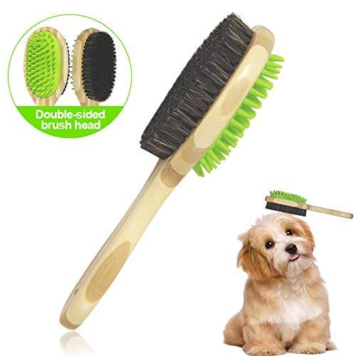 Sunshine smile Haustierbürste Doppelseitige, Hundebürste, Katzenbürste, Doppelseitige Bürste für Haustier, Haustier Hund Bürste, Haustier Katzen Bürste