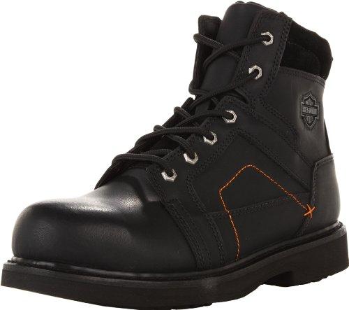 Harley-Davidson Men's Pete Steel Toe Motorcycle Safety Boot, Black, 11 M US
