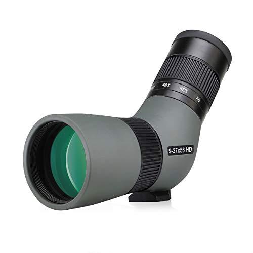 Svbony SV410 Mini Spotting Scope ED 9-27x56, ED Glass FMC Lens Compact Portable Bird Watching Scope for Hummingbird, Travel, Landscape, Sport Shooting, Hunting