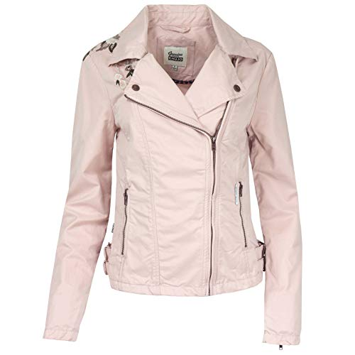 khujo Damen SOLIDA Jacket Jacke, Rosa (Nude 145), 44 (Herstellergröße:L)