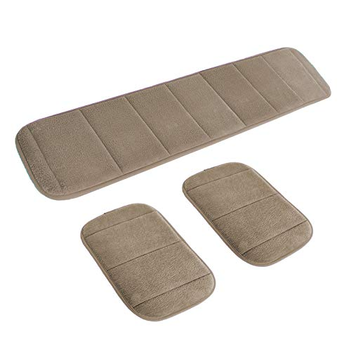 2 Sets Ergonomic Computer Elbow Wrist Pad, AUHOKY Long & Short Size Combination Keyboard Wrist Rest Elbow Support Mat for Office Desktop Working Gaming - Memory Foam Relieve Elbow Pain (Khaki)