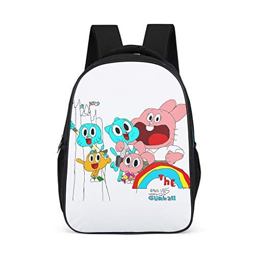 The Amazing World of Gumball: Mochila escolar para niños y niñas con compartimento