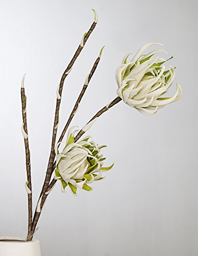 Casablanca Foam Flower Arica Weiss/grün/grauL.95cm