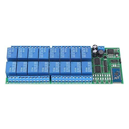 Yongenee 16 de retransmisión Bluetooth Canal, DC 12V 16 Placa de relé Bluetooth Canal Remoto inalámbrico Interruptor de Control Herramientas