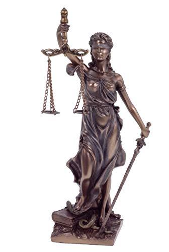 Justitia Figur bronziert,Skulptur,römische Götter 21 cm Veronese