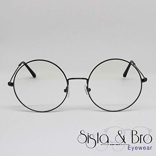 Arqueta Negro-Sista & Bro Eyewear - Gafas de descanso anti luz azul - Hombre Mujer - Cristales antirreflejos 100% UV - Especial pantalla para ordenador, PC y videojuegos - Filtro de luz azul