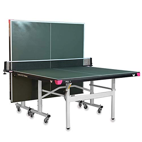 Butterfly Easifold DX 22 Table Tennis Table - 3 Year Warranty Ping Pong Table - 10 Minute Quick Assembly - Folding with Wheels - Compact Storage Ping Pong Table - Green