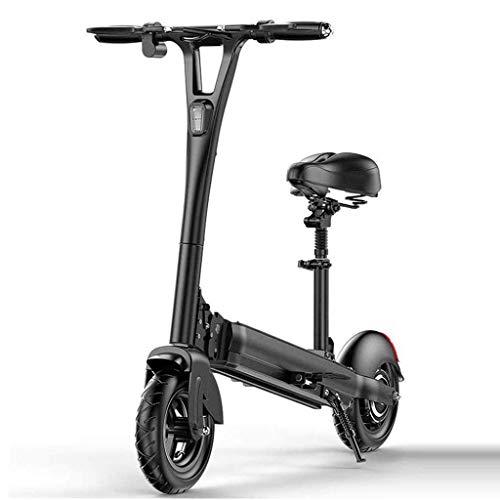 SUNBJ Bicicleta eléctrica, portátil Quick Fold Scooter eléctrico con 500W de Motor sin escobillas Gran Pantalla LCD de 70 kilometros de Alcance máximo del Adulto/Adolescente Ciudad conmute Vespa