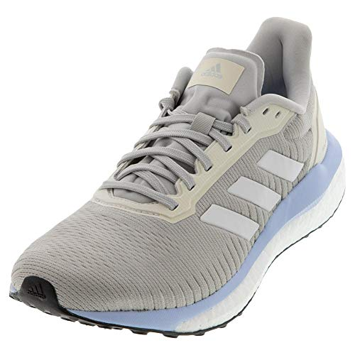 adidas Women's Solar Drive 19 Running Shoe, Grey/White/Glow Blue, 11 M US