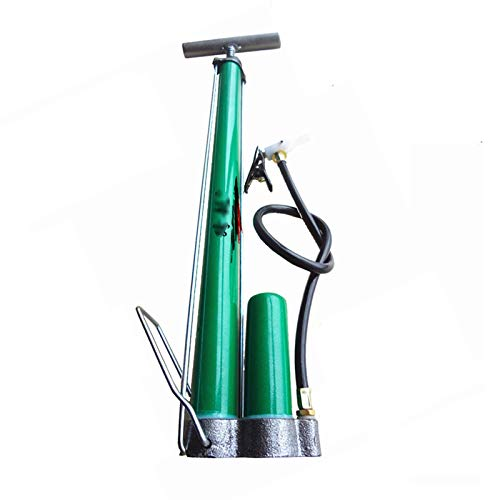 xiaokeai Classic Bicycle Tire Pump, Mountain Bike Ball Type Electric Bicycle Motorcycle Home Pump/Multi-Function Air Nozzle (Color : Green)
